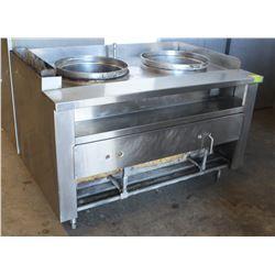 2 WELL S/S COMMERCIAL DIM-SUM COOKER - NO HOOD FAN