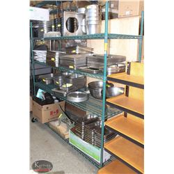 6FT, 4-TIER COMMERCIAL GREEN-WIRE STORAGE RACK