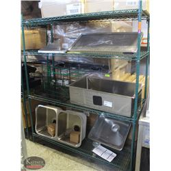 5FT, 4-TIER COMMERCIAL GREEN-WIRE STORAGE RACK