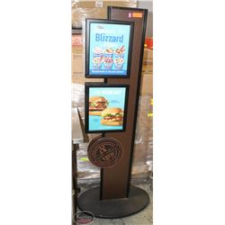 WOOD & ALUMINUM COMMERCIAL ADVERTISEMENT DISPLAY