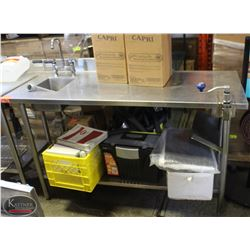 5' WASSERSTROM S/S COMMERCIAL PREP TABLE W/