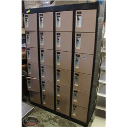 METAL LOCKERS  6' HIGH X 4' WIDE WITH 24