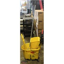 COMMERCIAL RUBBERMAID MOP-BUCKET W/ WRINGER