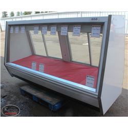8' UNC ANGLED GLASS COMMERCIAL DELI/MEAT DISPLAY