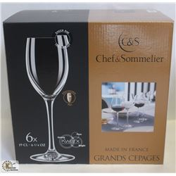 CHEF & SOMMELIER 6.7OZ FLUTE,MADE IN FRANCE, 1 BOX
