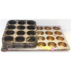 LOT OF 9 CUPCAKE/MUFFIN PANS