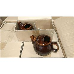 TEAPOT 2 CUP - BROWN - LOT OF 6 (3 BOXES)