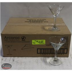 CASE OF NEW 3 OZ. EXCALIBUR COCKTAIL GLASSES