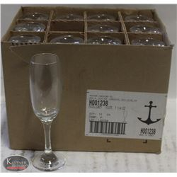 CASE OF ANCHOR CHAMPAGNE GLASSES, 7-1/4OZ