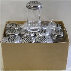 NEW CHEESE OR PEPPER SHAKERS LOT OF 12