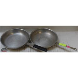 "LOT OF TWO 11"" ALUMINUM FRY PANS"