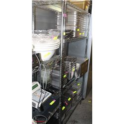 4-TIER CHROME-WIRE COMMERCIAL STORAGE RACK-ON