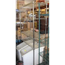 4 TIER COMMERCIAL CHROME WIRE RACK ON CASTORS