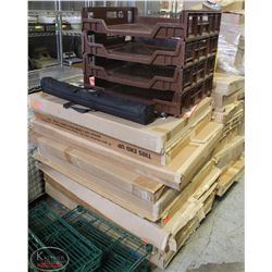 PALLET OF COMMERCIAL PROMOTIONAL ADS,PROJECTOR