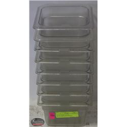 LOT OF EIGHT 1/6 SIZE POLYCARBONATE INSERTS