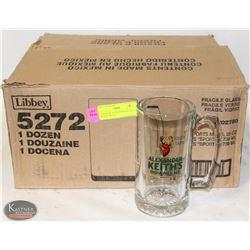 CASE(12) OF ALEXANDER KEITH'S 25 OZ BEER MUGS