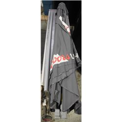 1 NEW COORS LIGHT PATIO UMBRELLA