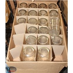 LOT OF 21, 20 OZ. BEER GLASSES