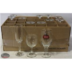 LOT OF ASSORTED WINE & BRANDY GLASSES
