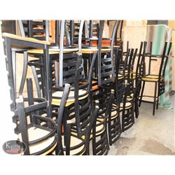 26 VARIOUS STOOLS AND CHAIRS, 10 TABLES