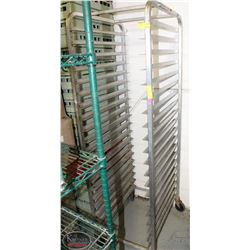 20 TIER COMMERCIAL ALUMINUM BUN RACK