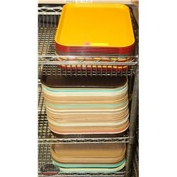 APPROX. 65 CAFETERIA SERVICE TRAYS