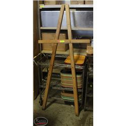 "WOODEN DISPLAY EASEL 66.5"" TALL"