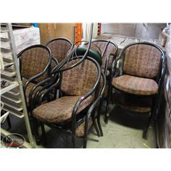 SET OF 6 COMMERCIAL RESTAURANT FABRIC CHAIRS