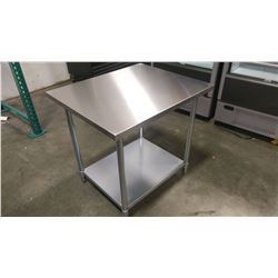 JR 83048 30 X 48 WORK TABLE, 430 STAINLESS STEEL