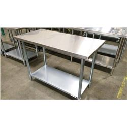 JR 83036 30 X 36 WORK TABLE, 430 STAINLESS STEEL