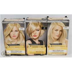 THREE PACKS OF LOREAL PAIR HAIR COLOUR