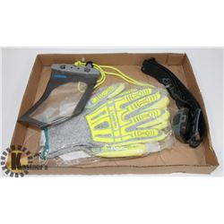 NEW RIG LIZARD 2090X WORK GLOVE WITH HEAD LIGHT