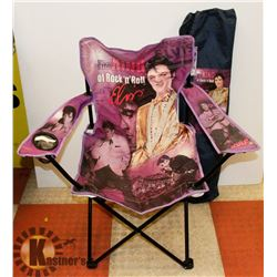 ELVIS THE KING OF ROCK N' ROLL FOLDING CHAIR
