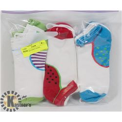 9PK LADIES ANKLE SOCKS.