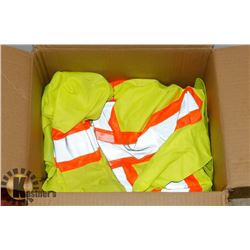 PAIR FORCEFIELD LG REFLECTIVE COVERALLS AND