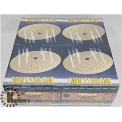 "4 BOXES OF NORTON 6"" SPEED GRIP 320 GRIT DISCS"