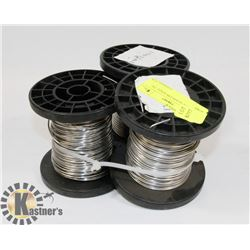 3 ROLLS OF STAINLESS STEEL TIE WIRE