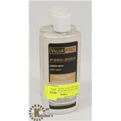 2 BOTTLES OF GREEN MICA PEARLING PAINT ADDITIVE
