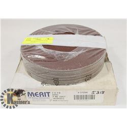 2 PACKS OF 7 X 7/8 FIBER BACK DISCS- 1 -50 GRIT,