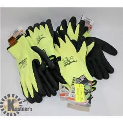 LOT OF SUREGRIP LATEX FOAM COATED PALM GLOVES.