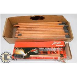 2 BOXES OF COPPER COATED GOUGING CARBON