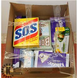 ESTATE BOX OF PAPER TOWELS, KLEENEX, AND MORE