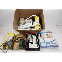 ESTATE BOX OF POWER BARS, SONIC ALARM SYSTEM,