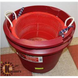 LOT OF TWO 18 GALLON ROUND TOTES