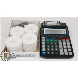 PRINTING CALCULATOR WITH EXTRA PRINTING PAPER