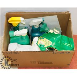 BOX OF ASSORTED GARDENING CHEMICALS