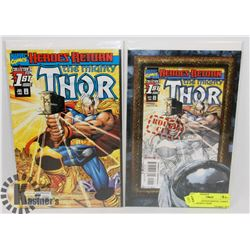 "2 DIRECT EDITION MARVEL COMICS ""THE MIGHTY THOR"""