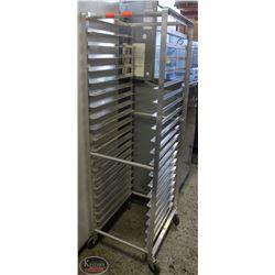 20-SLOT ALUMINUM BAKERS RACK ON CASTORS