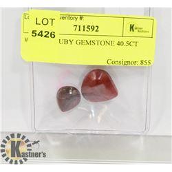 #49-RED RUBY GEMSTONE 40.5CT