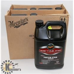 LOT OF 4 MEGUIARS 3.79L PROTEIN STAIN REMOVER.